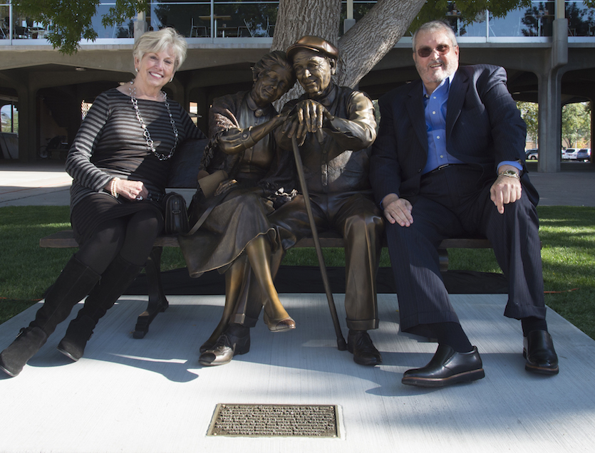 Gift of 'Valentine' sculpture unveiled at Idaho State University showing a lot of love