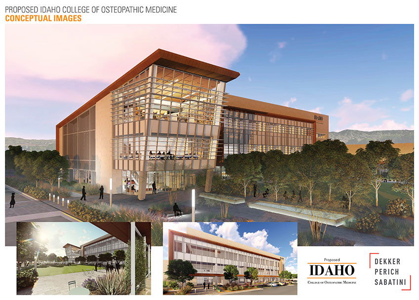 Proposed Idaho College of Osteopathic Medicine Conceptual Images. (Dekker Perich Sabatini)