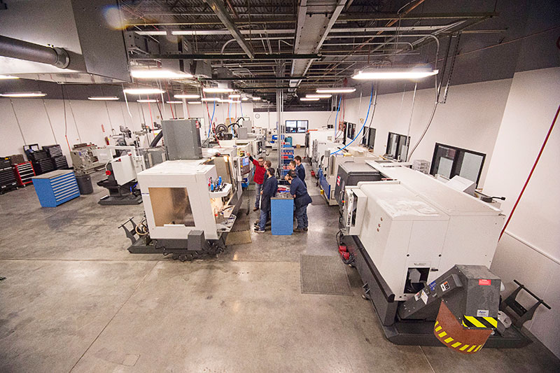 College of Technology machining shop