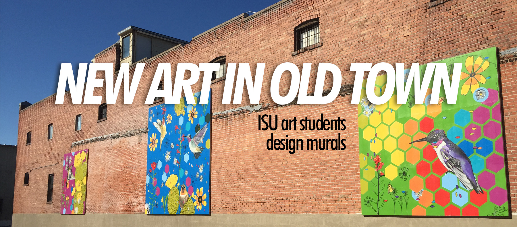 New Art in Old Town ISU art students design mural