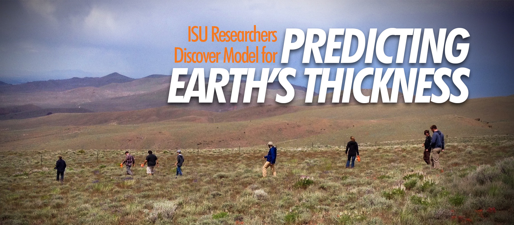 ISU researchers discover model for predicting earth's thickness