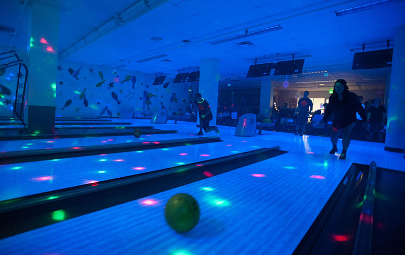 Glow Bowling at New Student Orienation
